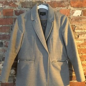 Hardly worn, petite grey Topshop pea coat